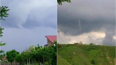 Două tornade, filmate duminică în România. Cum explică ANM fenomenele extreme din țara noastră. Video