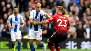 Manchester United, înfrângere rușinoasă cu Brighton! City, show cu Huddersfield