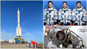China a lansat primul zbor spațial cu echipaj uman după cinci ani. Astronauții vor sta trei luni în spațiu