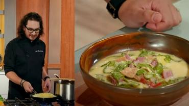 Rețetă de ciorbă de salată verde cu afumătură de la chef Florin Dumitrescu. Trucurile ardelencelor