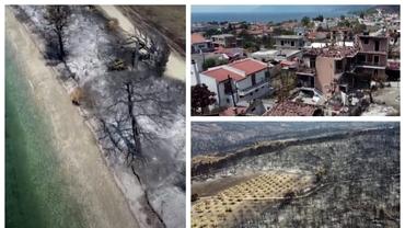Video. Urmele prăpădului. Cum arată insula greacă Evia, mistuită de incendii. Localnicii, furioși pe guvern