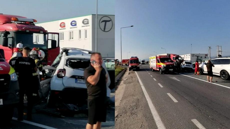 Patru persoane au murit în Sibiu, după un grav accident rutier. Dacie Duster, impact frontal cu un TIR
