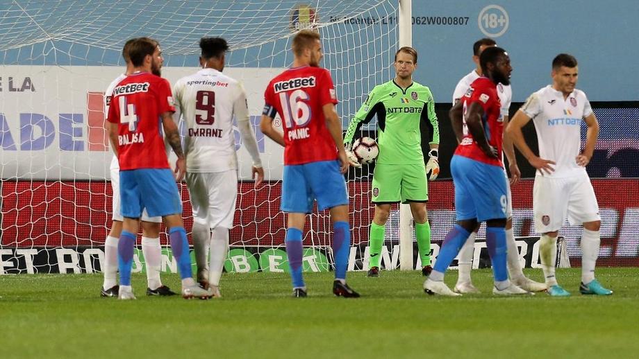 CFR Cluj - FCSB 1-1 în primul derby al sezonului! Goluri Coman şi Ţucudean. Video