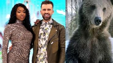 """Florin Ristei și iubita lui, în pericol la munte. Au dat nas în nas cu urșii, iar fanii s-au întristat: """"Sunt rupți de foame"""""""