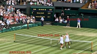 Unde s-a decis meciul Simona Halep - Victoria Azarenka de la Wimbledon 2019! Cifrele unei victorii magistrale