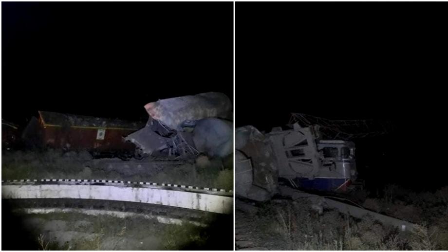 Două trenuri de marfă s-au ciocnit violent la Fetești. Imagini de la locul accidentului. Un alt tren cu copii, blocat peste nouă ore. Update