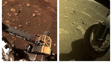 """Noi imagini spectaculoase de pe Marte. Perseverance, primii metri parcurși pe """"Planeta Roșie"""". Video"""