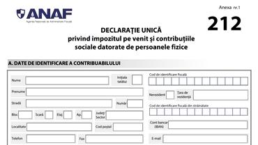 Noul formular pentru declarația unică 2021. ANAF a modificat modelul