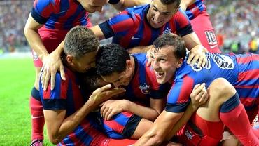 Steaua se distrează în Ligă: Cifrele care confirmă supremaţia echipei lui Reghe