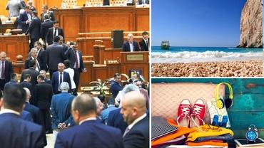 """Parlamentarii au intrat în vacanță. Trei luni de concediu pe an și zile lucrătoare """"cu program scurt"""""""