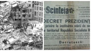 Ce a scris presa comunistă despre cutremurul din 1977! Imagini înfiorătoare cu morți și răniți în presa internațională