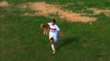VIDEO / L-a MUŞCAT cîinele pe teren, apoi a marcat un gol de SENZAŢIE!