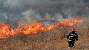 Traficul este îngreunat pe Autostrada Bucureşti–Piteşti! Incendiu de vegetaţie