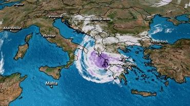 """Specialiștii avertizează: ciclonul """"Ianos"""" va face prăpăd în Grecia! Regiunile vizate"""