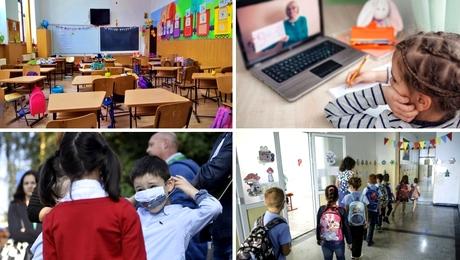 Cum arăta România anul trecut după o săptămână de școală. Diferență uriașă de cazuri în 2021