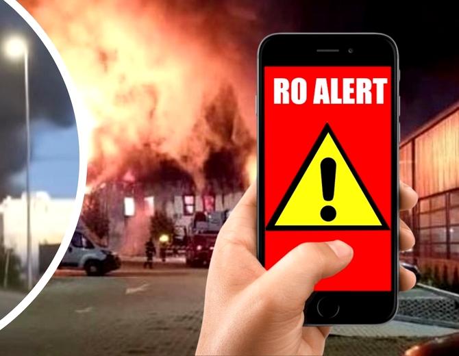 Incendiu de proporții în Cluj, la o hală. Locuitorii au primit mesaj Ro-Alert. Video