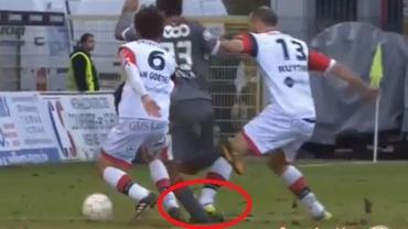 VIDEO / Cu piciorul aproape RUPT, un jucător din Belgia l-a făcut K.O pe cel care l-a faultat!
