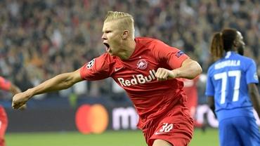 Erling Haland, viitorul adversar al României, a marcat de 3 ori în Champions League. Tatăl său a jucat la Manchester City. VIDEO