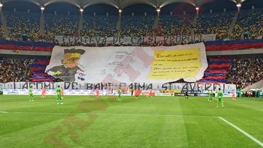 Coregrafii spectaculoase la FCSB - Dinamo! Peluza Nord, atacuri dure pentru PCH. Video+foto