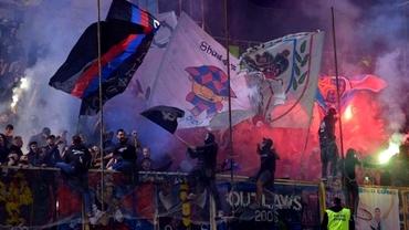 Huliganism în Liga 2: ultrașii CSA Steaua au bătut crunt doi oameni după înfrângerea de la Dej. Video