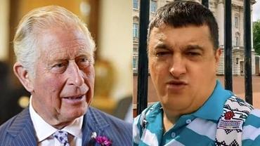 """Video cu un român care susţine că este fiul Prinţului Charles, devenit viral. Bărbatul strigă în faţa Palatului Buckingham: """"Father, help!"""