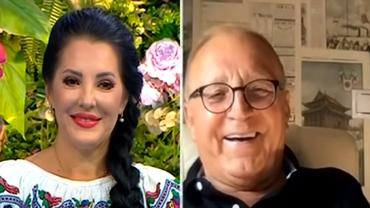Angela Rusu și tatăl ei, pentru prima oară la tv. Soția părintelui artistei este mai mică decât ea cu 14 ani. Cum se înțeleg cele două - Video