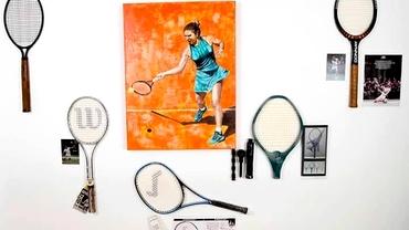 Simona Halep are un tablou în Galeria