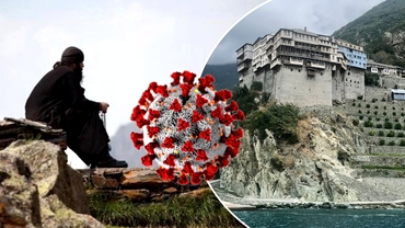 Care este starea pacientului zero de pe muntele Athos şi cum se protejează călugării de coronavirus. COVID-19 ar fi făcut ravagii în mănăstiri