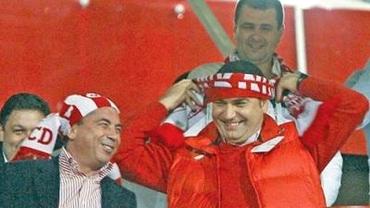 Galerie selectă. Borcea, Neţoiu, Turcu şi Becali văd meciul împreună