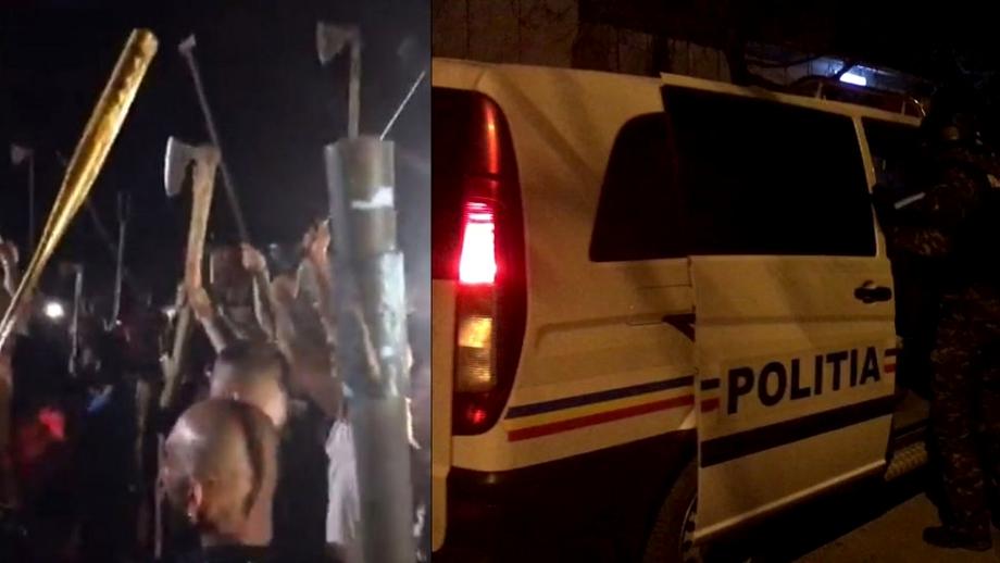 """Interlopi din București, chef cu topoare și săbii. Sindicat din Poliție: """"Așa vor arăta petrecerile în societatea românească"""". Video"""