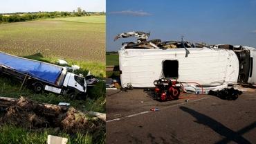 TIR din România, implicat într-un tragic accident în Ungaria: 3 morți și 13 răniți