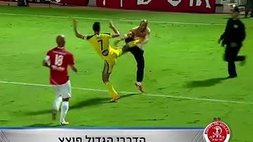 VIDEO / Război la derby-ul oraşului Tel Aviv! Fanii i-au ATACAT pe fotbalişti!