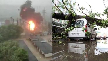 Moscova, lovită de o furtună violentă. O centrală electrică a luat foc și mai multe zone au fost inundate. Video