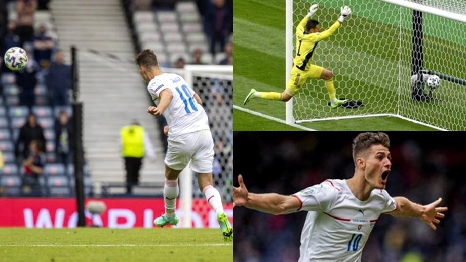 Patrik Schick, golul turneului! Cum a marcat de la centrul terenului. Reacția cehului