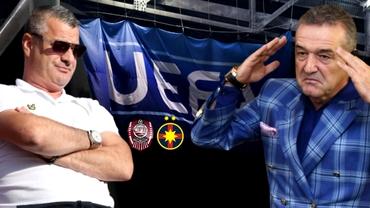 Moment istoric înainte de CFR Cluj - FCSB! Campioana României şi-a depăşit rivala la nivel european