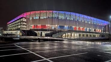 Stadionul Steaua este aproape gata. Cum arată arena din Ghencea pe timp de noapte. Video