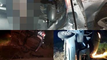 Accident teribil. O maşină în care se aflau cinci tineri s-a făcut praf. O fată de 19 ani a murit pe loc