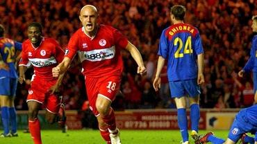 Detaliul care a făcut diferenţa în Middlesbrough - Steaua! Cum puteau să scape steliştii de coşmarul Massimo Maccarone. Video