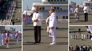 Video. Ziua Marinei Române, ceremonie fără spectatori. Cum a apărut Klaus Iohannis la ceremonia din Portul Militar Constanța