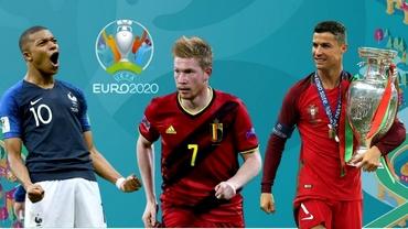 """Aglomerație la """"Cel mai bun jucător"""" la EURO 2020. De Bruyne, tackling la Mbappe. Pe ce cotă vine Ronaldo"""