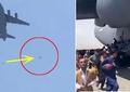 Video șocant. Momentul în care trei afgani cad de pe un avion în timp ce încercau disperați să părăsească țara