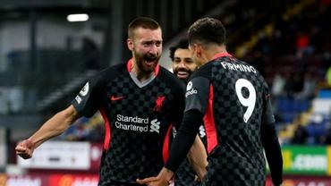 Premier League, etapa a 37-a. Liverpool câştigă pe terenul lui Burnley şi urcă în Top 4
