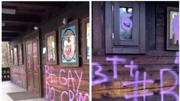 Biserica de lemn din Parcul Titan, vandalizată. Mesaje pro LGBT, scrise cu spray roz. Reacția dură a Patriarhiei. Video