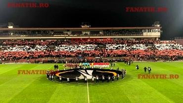 Coregrafie spectaculoasă a fanilor de la CFR Cluj la meciul cu Sevilla. VIDEO + FOTO EXCLUSIV