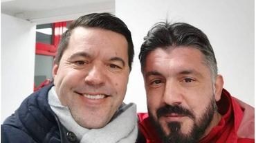 Cosmin Contra s-a întors la Milano, unde s-a văzut cu prietenul Gattuso. Program plin pentru selecționer