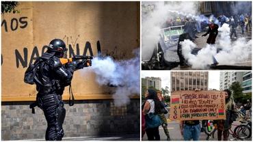 Continuă protestele sângeroase din Columbia. Situația riscă să escaladeze la nivelul întregului continent