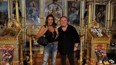 Celebra Sabrina a mers la moaștele Sfintei Parascheva, după concertul fulminant la Iași. Imagini exclusive