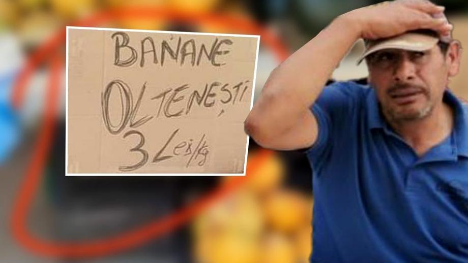 """Cum a încercat un fermier să-și vândă marfa în piaţă! """"Avem banane oltenești"""""""