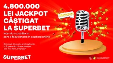 (P) 4.800.000 lei câștig în cazinoul online Superbet! Citește un interviu în exclusivitate cu SuperMilionarul!