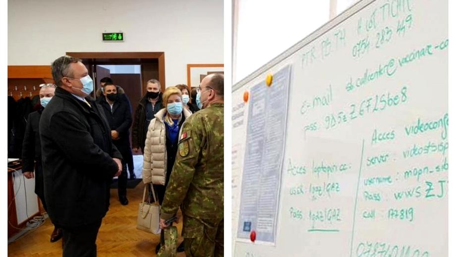 Gafă a ministrului Nicolae Ciucă. A postat pe Facebook parole și numere de telefon de la videoconferințele MApN